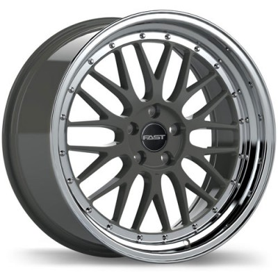 roue Fast Wheels Victory, gris gunmetal machine (18X8.5, 5x115, 72.6, déport 45)