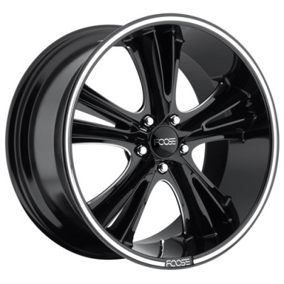roue FOOSE Knuckle Buster F152, noir machine (20X9, 5x114.3, 72.6, déport 35)