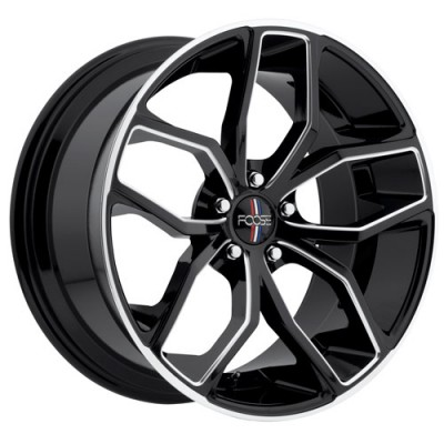 roue FOOSE OUTCAST F150, noir machine (20X8.5, 5x114.3, 70.7, déport 35)