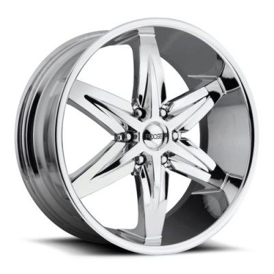 Roue FOOSE Slider F161, chrome (22X9.5, 6x139.7, 78.1, déport 30)