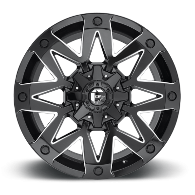 Roue FUEL Ambush D555, noir machine (17X9, 5x114.3/127, 78.1, déport -12)