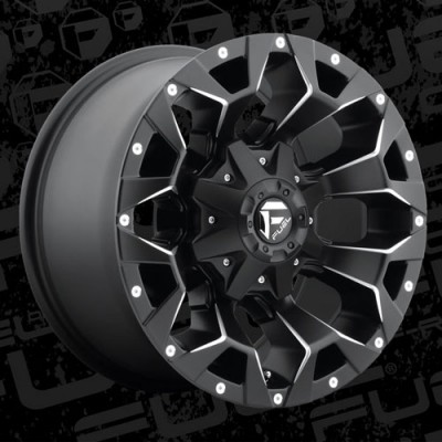 Roue FUEL Assault AUS D546, noir machine (17X8.5, 5x150, 110.3, déport 35)