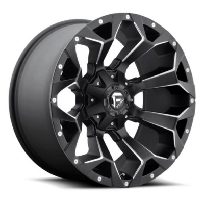 Roue FUEL Assault D546, noir machine (17X8.5, 6x114.3/139.7, 78.1, déport 14)