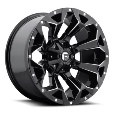 Roue FUEL Assault D576, noir lustre machine (17X9, 6x135/139.7, 106.1, déport 2)