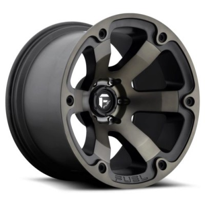 Roue FUEL Beast D564, noir mat machine (17X10, 6x139.7, 108, déport -18)