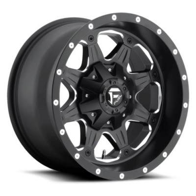 Roue FUEL Boost D534, noir machine (16X8, 6x130, 84.3, déport 1)