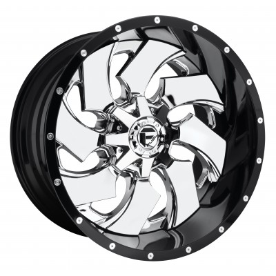 Roue FUEL Cleaver D240, chrome (20X10, 8x165.1, 125.2, déport -19)