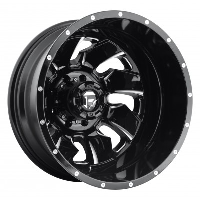 Roue FUEL Cleaver Dualie Rear D574, noir machine (20X8.25, 8x165.1, 117.2, déport -246)