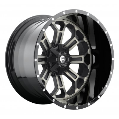Roue FUEL Crush D268, noir machine (20X10, 8x170, 125.1, déport -19)