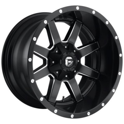 Roue FUEL D538 MAVERICK, noir mat rebord machine (17X8.5, 6x114.30/139.70, 78.1, déport 32)