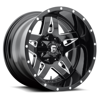 Roue FUEL Full Blown D554, noir machine (17X9, 5x135/139.7, 87.1, déport 1)
