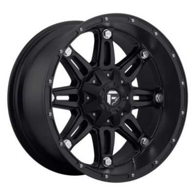 Roue FUEL Hostage D531, noir mat machine (18X9, 6x127/139.7, 78.1, déport 20)