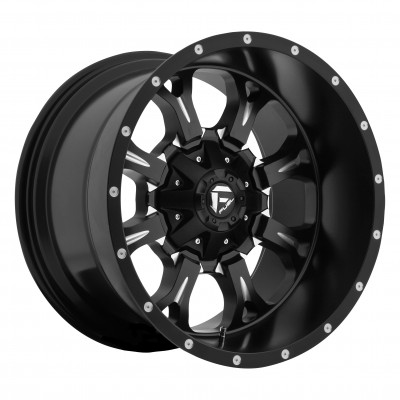 Roue FUEL Krank D517, noir machine (22X11, 8x165.1, 125.2, déport -24)