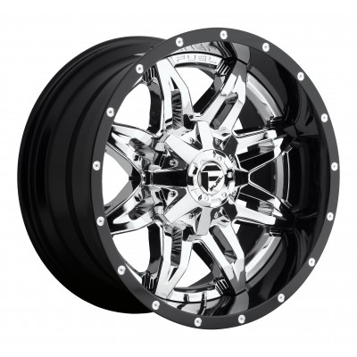 Roue FUEL Lethal D266, chrome (20X10, 8x180, 125.2, déport -19)