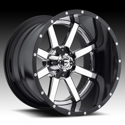 Roue FUEL Maverick D260, chrome (24X8.25, 8x165.1, 117.2, déport -236)