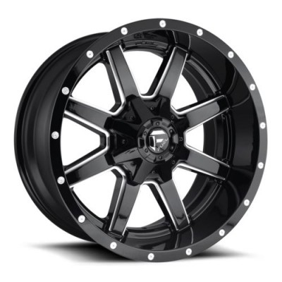 Roue FUEL Maverick D610, noir lustre machine (17X9, 5x114.3/127, 72.6, déport -12)