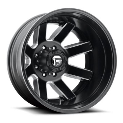 Roue FUEL Maverick Dually Rear D538, noir machine (20X8.25, 8x165.1, 121.6, déport -240)
