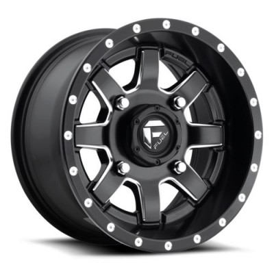 Roue FUEL Maverick UTV D538, noir mat machine (14X7, 4x115, 79.4, déport 38)