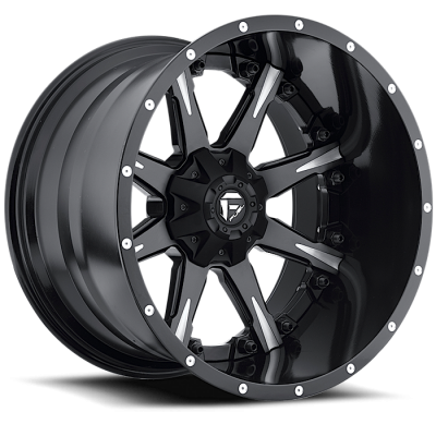 Roue FUEL Nutz D251, noir machine (22X10, 8x165.1, 125.2, déport 6)