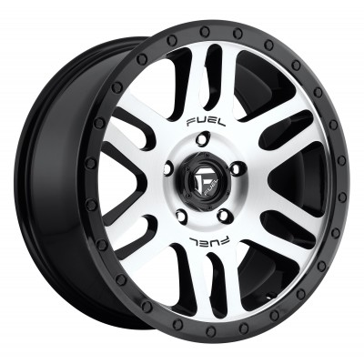 Roue FUEL Recoil D585, noir machine (18X9, 6x139.7, 108, déport 1)