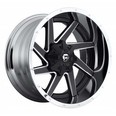 Roue FUEL Renegade D264, noir machine (20X10, 8x170, 125.2, déport -19)