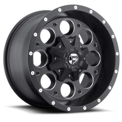 Roue FUEL Revolver D525, noir machine (15X8, 6x139.7, 108, déport -18)