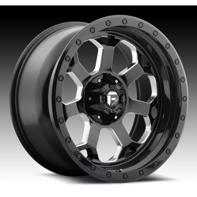 Roue FUEL Savage D563, noir machine (17X8.5, 5x114.3/127, 78.1, déport -5)