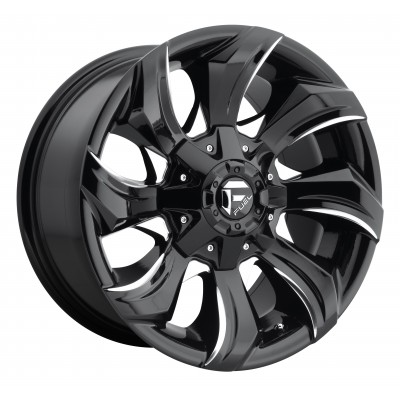 Roue FUEL Stryker AUS D571, noir machine (17X9, 6x139.7, 93.1, déport 35)