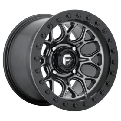 Roue FUEL TECH BL - OFF ROAD ONLY, gris gunmetal mat (15.00X10.00, 4x156.00, 132, déport 0)