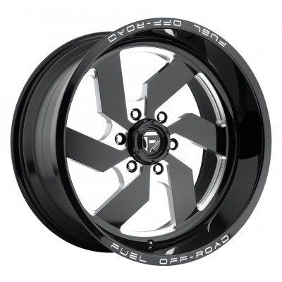 Roue FUEL Turbo D582, noir machine (18X9, 8x180, 124.3, déport 1)