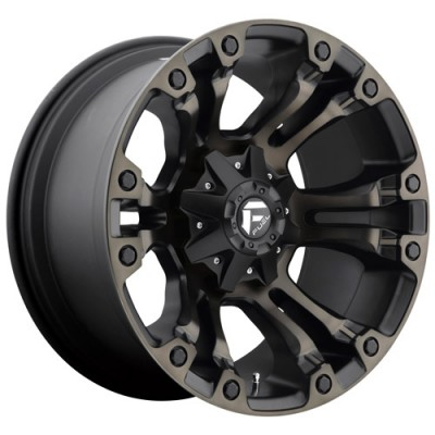 Roue FUEL Vapor- AUS D569, noir machine (20X9, 6x139.7, 108, déport 35)