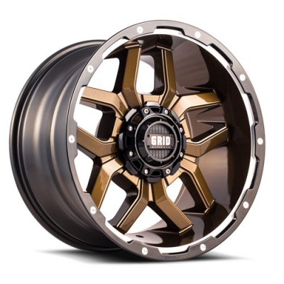 roue Grid GD07, bronze (20X10, 5x127/139.7, 87.1, déport -25)