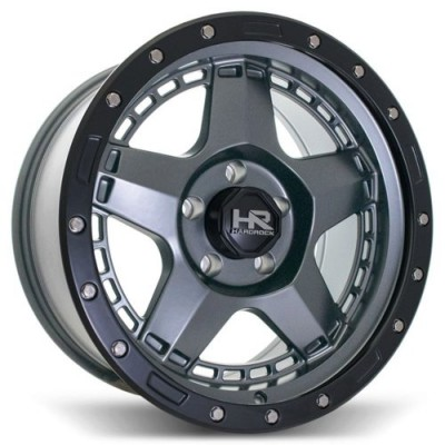 roue Hardrock HR-101, gris gunmetal machine (18X9.0, 8x165.1, 125.2, déport 18)