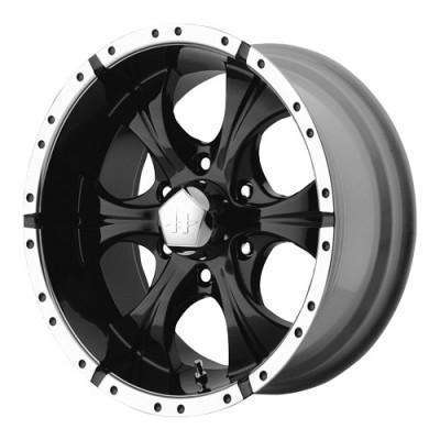 roue Helo Wheels Maxx, noir lustre machine (15X8, 5x139.7, 108, déport -12)