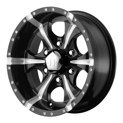 roue Helo Wheels Maxx, noir lustre machine (17X9, 5x114.3, 72.6, déport -12)