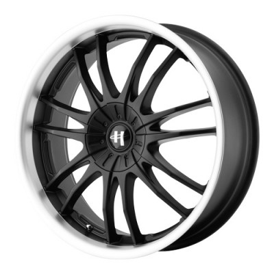 roue Helo Wheels HE845, noir lustre machine (17X7.5, 5x100/110, 72.6, déport 42)