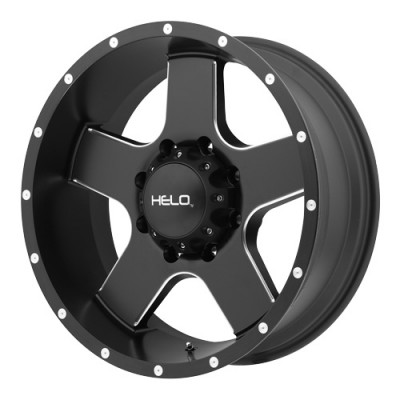 roue Helo Wheels HE886, noir machine (17X9, 8x165.1, 125.5, déport 18)