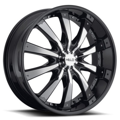 roue RTX Wheels He875, noir insertion chrome (20X8.5, 6x135/139.7, 106.1, déport 38)