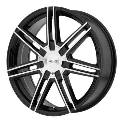 roue Helo Wheels HE884, noir lustre machine (20X8, 5x112/114.3, 72.6, déport 35)