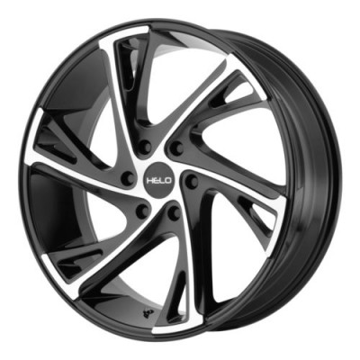 roue Helo Wheels HE903, noir lustre machine (22X9, 6x139.7, 100.5, déport 30)