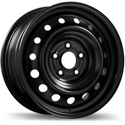 roue Fast Wheels Steel Wheel, noir (16X7.0, 5x114.3, 66.1, déport 50)