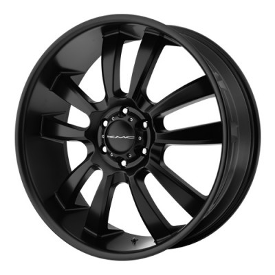 roue KMC Wheels Skitch, noir satine (20X8.5, 5x114.3, 72.6, déport 35)