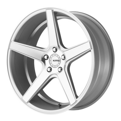 roue KMC Wheels District, argent machine (20X10.5, 5x112, 66.56, déport 35)