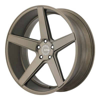 roue KMC Wheels District, bronze mat (20X10.5, 5x112, 66.56, déport 45)