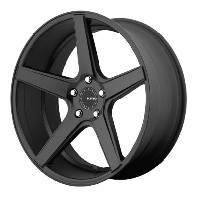 roue KMC Wheels District, noir satine (22X9, 5x112, 66.56, déport 35)