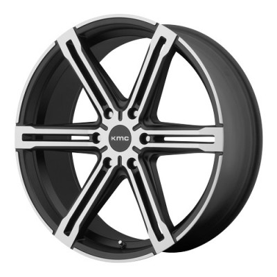 roue KMC Wheels Faction, noir machine (26X9.5, 6x139.7, 100.5, déport 38)