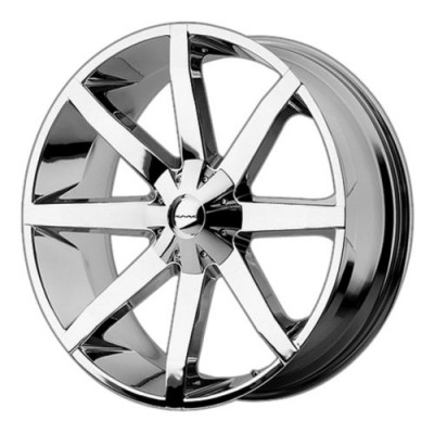 Roue KMC KM651 SLIDE, chrome (22X9.5, , 72.60, déport 15)