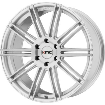 Roue KMC KM707 CHANNEL, argent machine (22X9.5, 5x120, 74.10, déport 30)