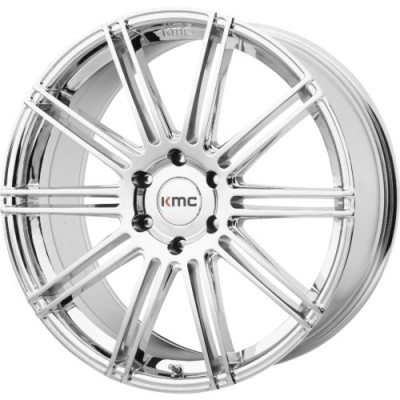 Roue KMC KM707 CHANNEL, chrome (22X9.5, 6x139.7, 100.50, déport 30)
