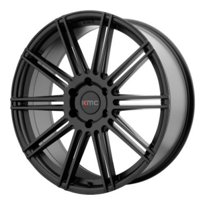 Roue KMC KM707 CHANNEL, noir satine (22X9.5, 5x120, 74.10, déport 30)